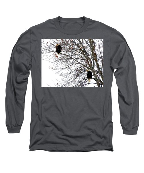 Long Sleeve T-Shirt featuring the photograph Bald Eagle Pair by Will Borden