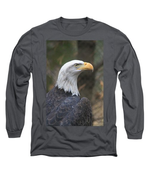 Bald Eagle Profile Long Sleeve T-Shirt