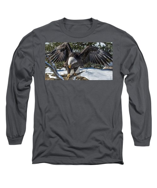Bald Eagle Spread Long Sleeve T-Shirt