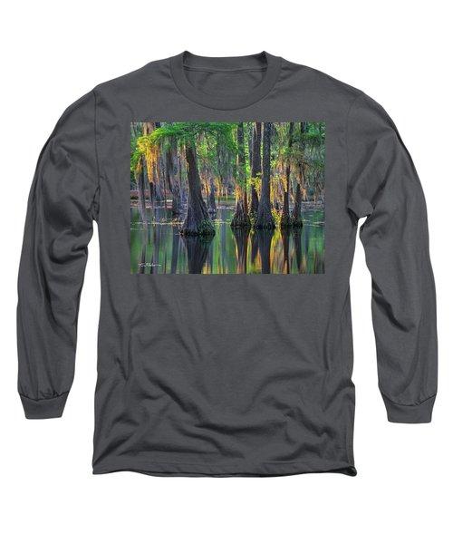 Baldcypress Trees, Louisiana Long Sleeve T-Shirt
