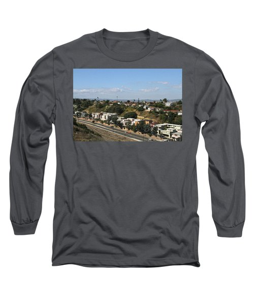 Baldwin Hills Over Stocker Street  Long Sleeve T-Shirt