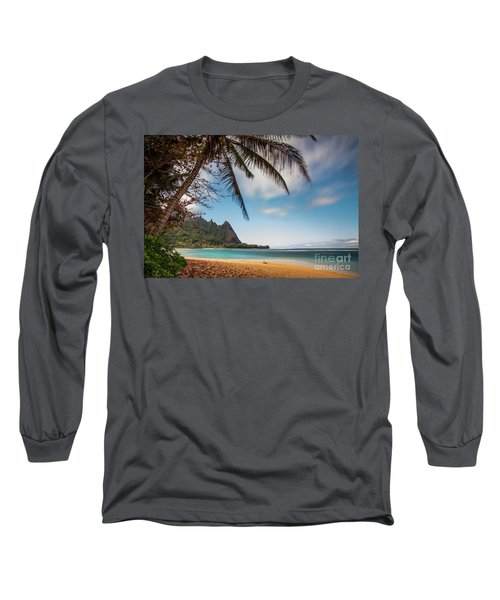 Bali Hai Tunnels Beach Haena Kauai Hawaii Long Sleeve T-Shirt