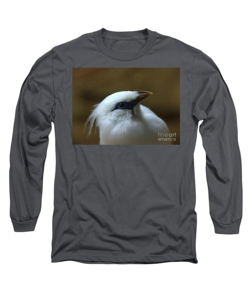 Long Sleeve T-Shirt featuring the photograph Bali Mynah by Lisa L Silva