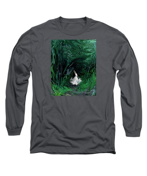 Long Sleeve T-Shirt featuring the photograph Ballerina In Wonderland by Rebecca Margraf