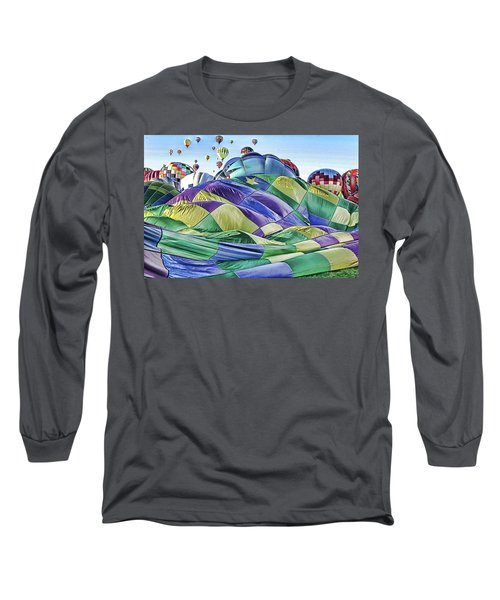Long Sleeve T-Shirt featuring the photograph Ballooning Waves by Marie Leslie