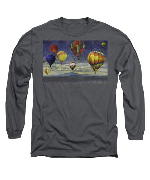 Balloons Over Sister Mountains Long Sleeve T-Shirt