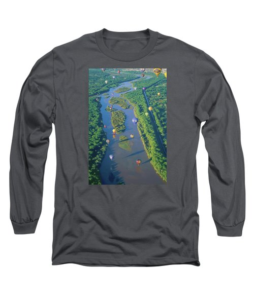 Balloons Over The Rio Grande Long Sleeve T-Shirt by Alan Toepfer