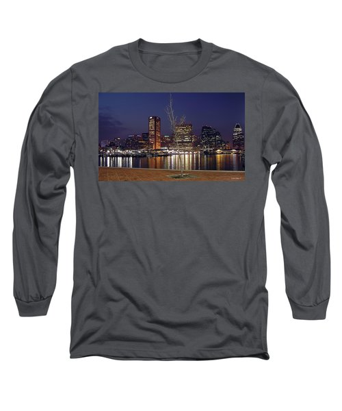 Long Sleeve T-Shirt featuring the photograph Baltimore Reflections by Brian Wallace