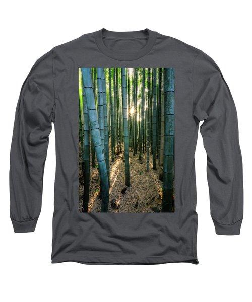 Bamboo Forest At Arashiyama Long Sleeve T-Shirt
