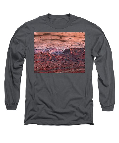 Banded Canyon Abstract Long Sleeve T-Shirt