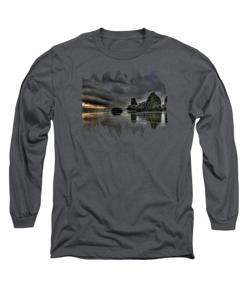 Bandon Beach Storm Long Sleeve T-Shirt