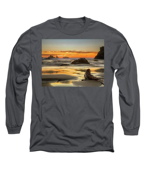 Bandon Orange Glow Sunset Long Sleeve T-Shirt