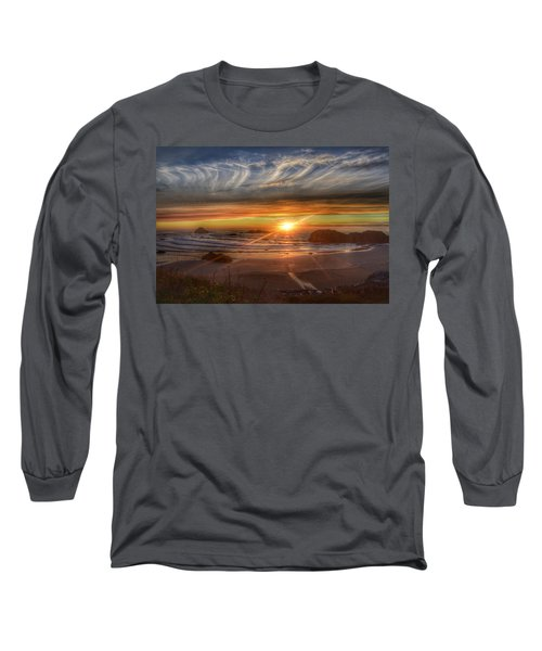 Bandon Sunset Long Sleeve T-Shirt by Bonnie Bruno