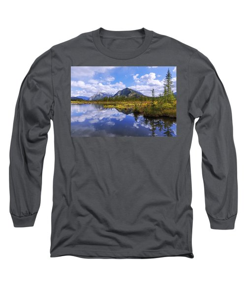 Long Sleeve T-Shirt featuring the photograph Banff Reflection by Chad Dutson