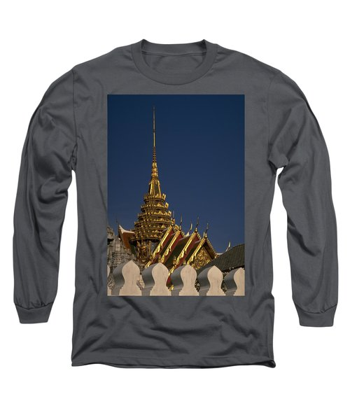 Long Sleeve T-Shirt featuring the photograph Bangkok Grand Palace by Travel Pics