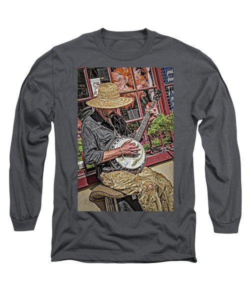 Banjo Man Orange Long Sleeve T-Shirt