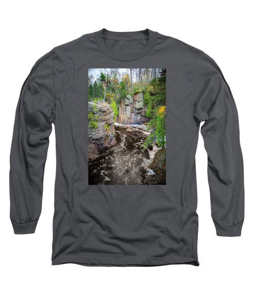 Baptism River In Tettegouche State Park Mn Long Sleeve T-Shirt