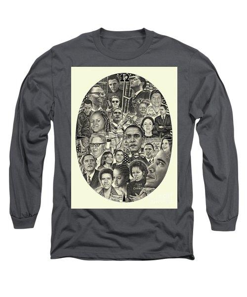 Barack Obama- Time For Change Long Sleeve T-Shirt