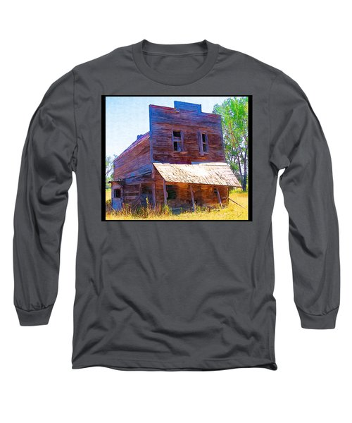 Long Sleeve T-Shirt featuring the photograph Barber Store by Susan Kinney