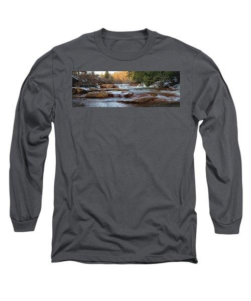 Barbershop Falls Wv In Winter Long Sleeve T-Shirt