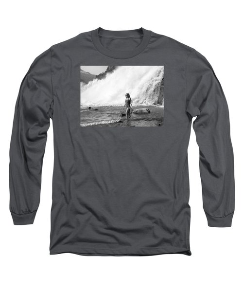 Barefoot In Wilderness Long Sleeve T-Shirt