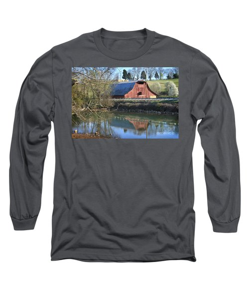 Barn And Reflections Long Sleeve T-Shirt