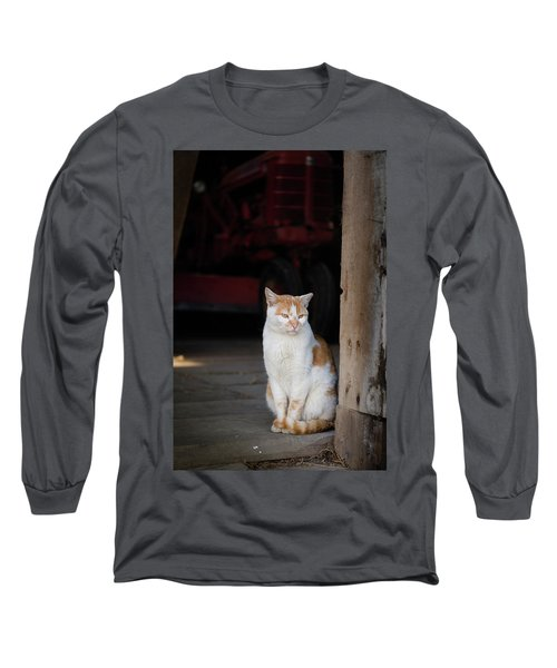Barn Cat And Tractor Long Sleeve T-Shirt