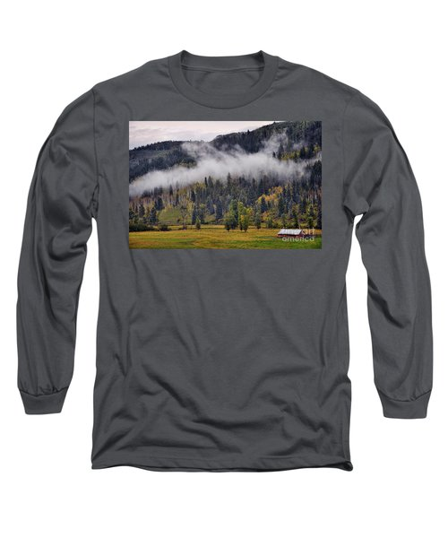 Barn In The Mist Long Sleeve T-Shirt