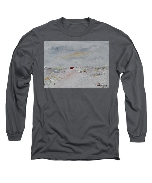 Long Sleeve T-Shirt featuring the painting Barn In Winter by Judith Rhue