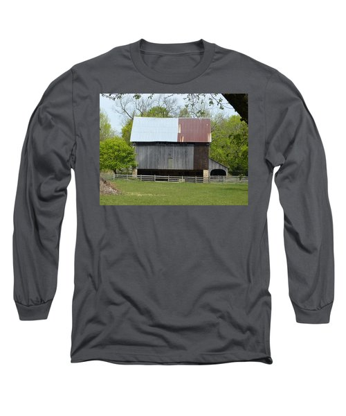 Barn Of Fair Hill Long Sleeve T-Shirt by Donald C Morgan