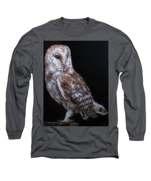 Barn Owl Long Sleeve T-Shirt by Cherise Foster