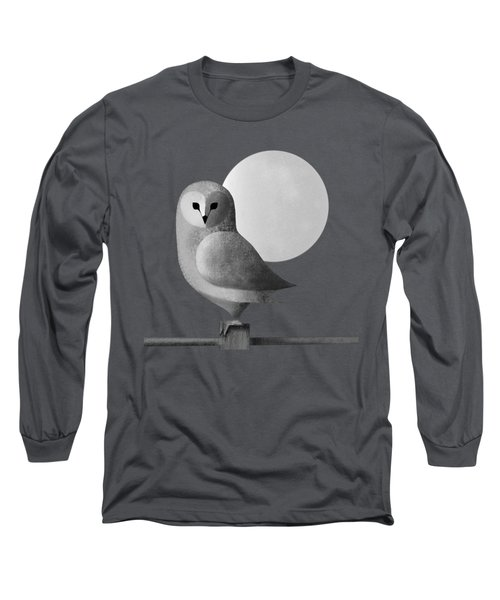 Barn Owl Full Moon Long Sleeve T-Shirt
