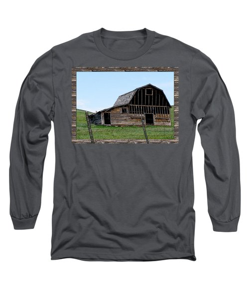 Long Sleeve T-Shirt featuring the photograph Barn by Susan Kinney