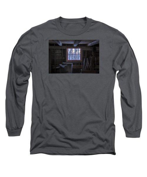 Barn Window II Long Sleeve T-Shirt by Tom Singleton