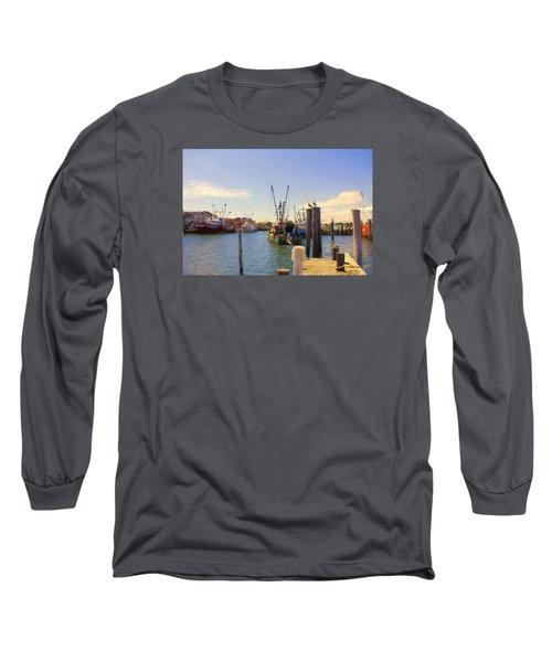 Barnegat Light Fishing Fleet Long Sleeve T-Shirt by John Rivera