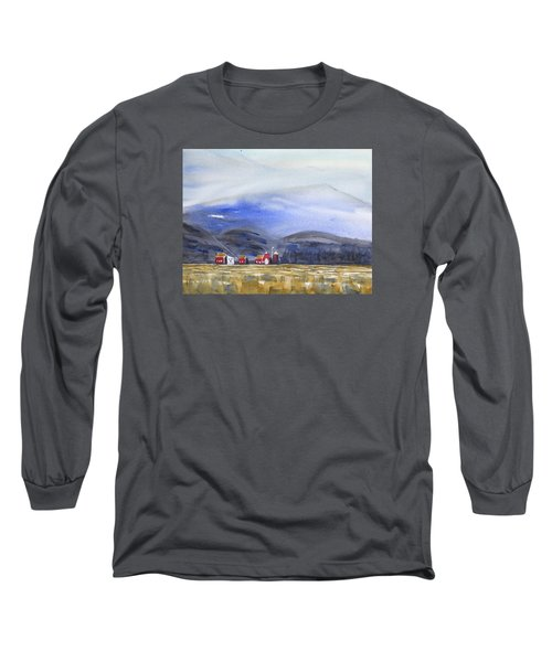 Barns In The Valley Long Sleeve T-Shirt by Frank Bright