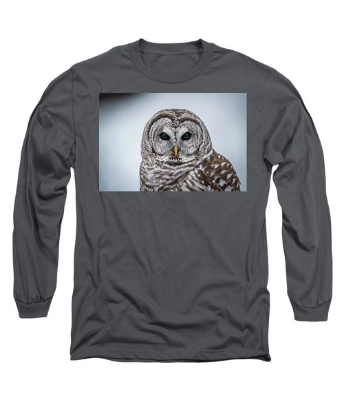 Long Sleeve T-Shirt featuring the photograph Barred Owl by Paul Freidlund