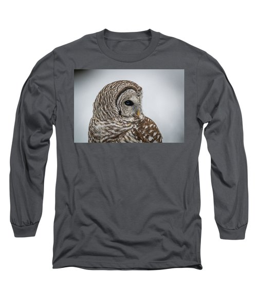 Long Sleeve T-Shirt featuring the photograph Barred Owl Portrait by Paul Freidlund