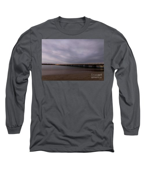 Long Sleeve T-Shirt featuring the photograph Barwon Heads Bridge by Linda Lees