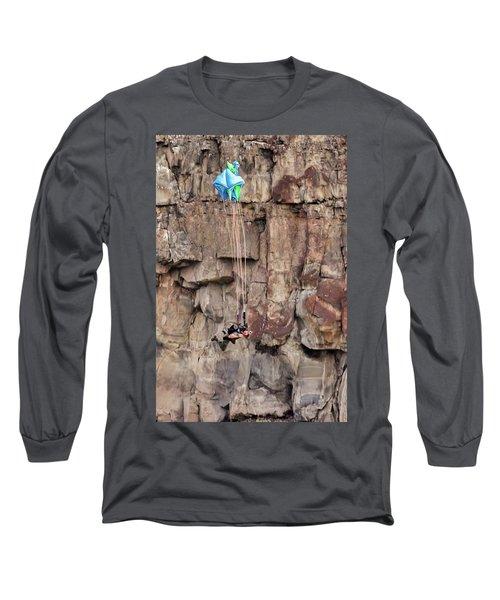 Base Jumper Perrine Bridge Twin Falls Long Sleeve T-Shirt