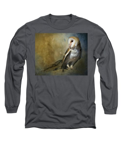 Bashful Barn Owl Long Sleeve T-Shirt