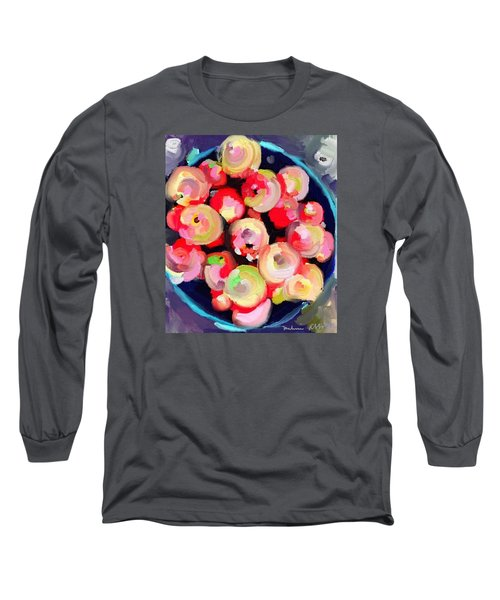 Basket Of Apples At Rockport Farmer's Market Long Sleeve T-Shirt