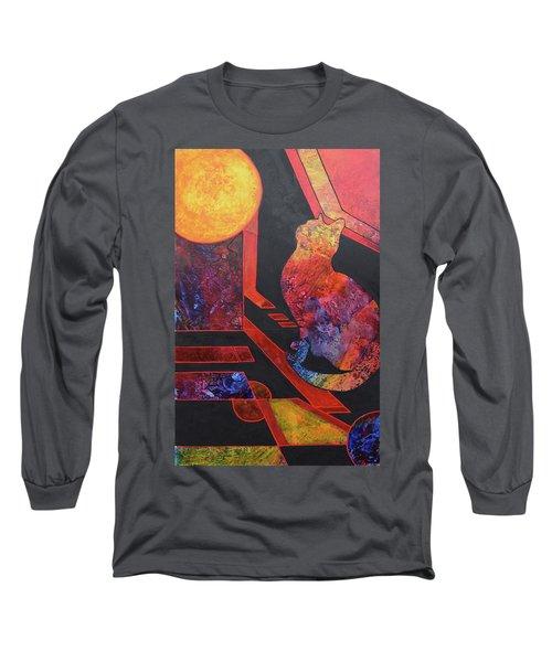 Basking Cat Long Sleeve T-Shirt