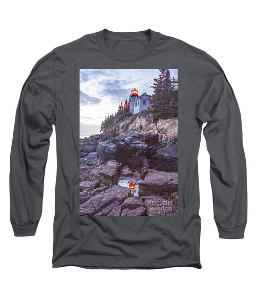 Bass Harbor Light Reflection Long Sleeve T-Shirt