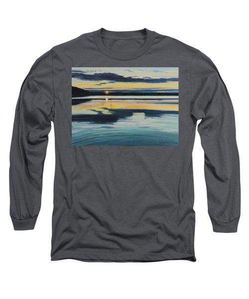 Bass Lake Sunset Long Sleeve T-Shirt
