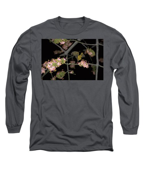 Long Sleeve T-Shirt featuring the photograph Bat by Jim Walls PhotoArtist