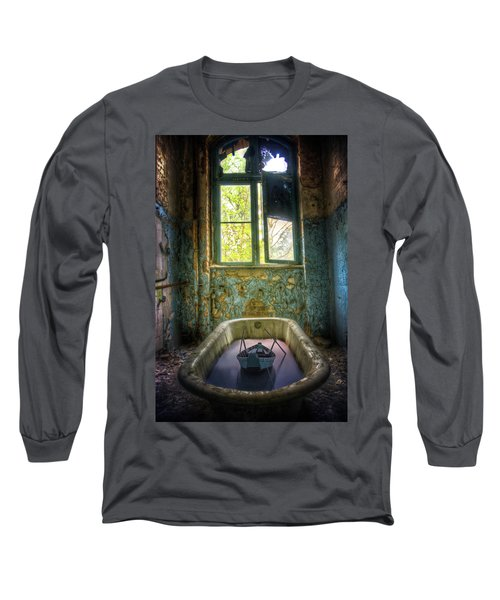 Bath Toy Long Sleeve T-Shirt by Nathan Wright