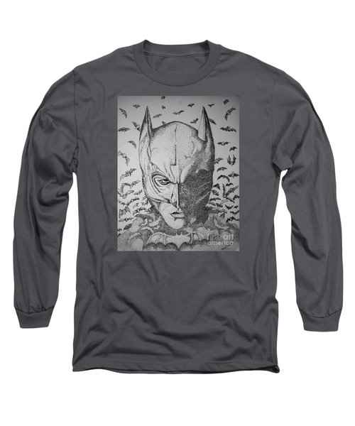 Batman Flight Long Sleeve T-Shirt by Tamyra Crossley