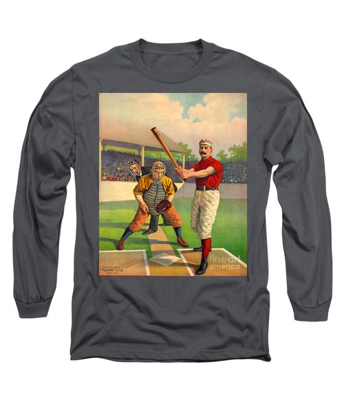 Batter Up 1895 Long Sleeve T-Shirt by Padre Art