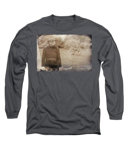 Battery D Long Sleeve T-Shirt by Randall Cogle